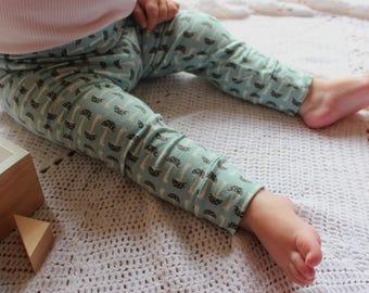 Baby leggings toadstools