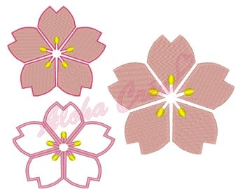 Machine Embroidery Design  Cherry blossom - Instant Digital Download
