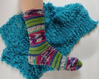 Wool Socks,  Hand Made Wool Socks, Hand Cranked Wool Socks, Women's Wool Socks, Teen Wool Socks, Boy's  Wool  Socks,Men's Socks