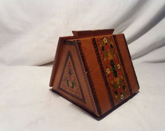 Vintage 1970's Handmade Wooden Cigarette Box - NEW