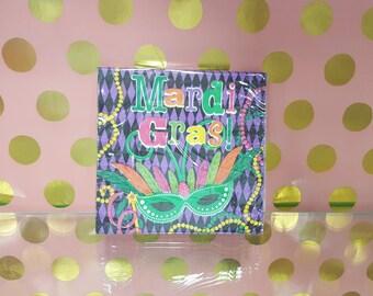 Mardi Gras Paper Napkins/Mardi Gras Beverage Napkins/Mardi Gras Party Supplies