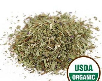 ORGANIC HYSSOP HERB.  Hyssopus officinalis. Certified Kosher and Irradiation-free. Sold by weight.