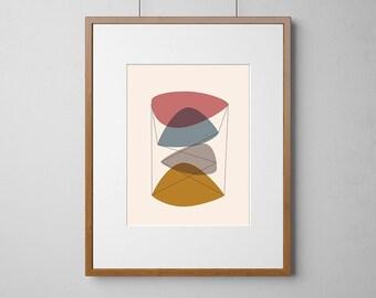 Mid-Century Modern Eames Style | Digital Download  Print | PDF | JPG | Standard Sizes | Print Ready Artwork | CMYK Colour