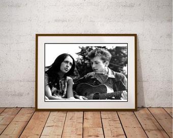 Bob Dylan & Joan Baez Poster