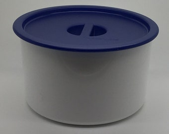 Tupperware Coffee House Canister Bold N Blue Coffee Filter Storage Coffee Counter Top # 2709 2717