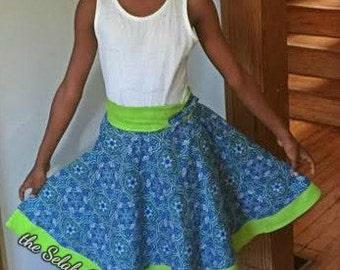 Child two-tone circle skirt