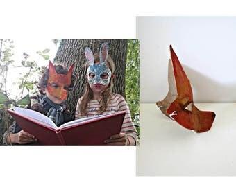 Masquerade mask Gift Party Children Papier mache Animal mask Fox