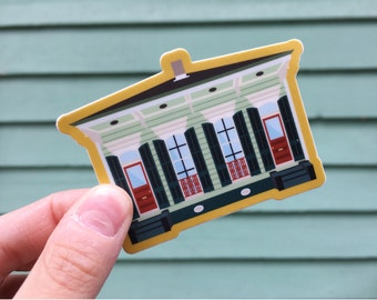 Double Shotgun House (New Orleans, Louisiana) Vinyl Sticker