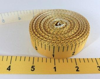 Measuring tape grosgrain Ribbons, ruler Ribbon, school ribbon, yardstick ribbons, 1 inchGrosgrain ribbon