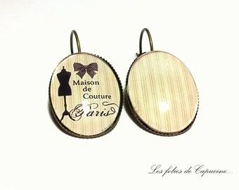 •MAISON DE COUTURE• Cabochon Stud Earrings