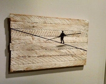 Tight Rope Walker HAND PAINTED Wall Art