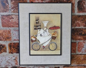 Jennifer Garant Chef on Bicycle Wall Hanging