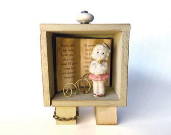 Mother Goose Shadowbox - Antique Doll Shadowbox - Children's Room Shadowbox