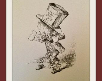 Alice in wonderland wall art print illustration