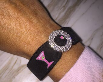 Martinis Party Bachelorette favor Bracelet