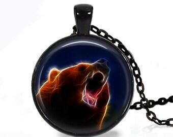 Fractal Bear - Nature Animal Handmade Pendant Necklace