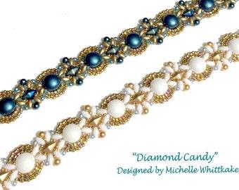 Diamond Candy Bracelet Needlework Tutorial PDF