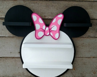 Minnie Mouse Shelf with Pink Bow