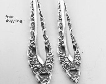 """Spoon Bracelet """" Royal Grandeur"""" Handmade Vintage Silverware Jewelry Christmas Gift Vintage Jewelry Spoon Ring Silver Fork Jewelry-243"""