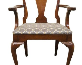 HICKORY CHAIR James River Solid Mahogany Queen Anne Arm Chair 838