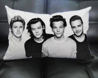 Throw Pillowcase Decorative Cushion Personalized Pillow Cover // Rectangle, Square // One Direction WCS_06