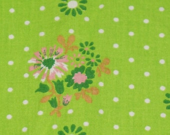 Vintage fabric fabric tissu 70s 70s flower power dots