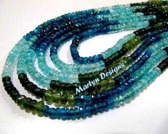 Top Quality Beautiful Multi Apatite Beads , Approx. 3-5mm Size Rondelle Faceted Gemstone Beads , Length 14 inch, Natural Multi Apatite Beads