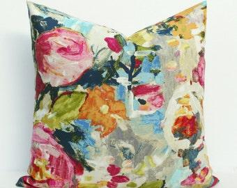 Painted Floral Garden Bouquet Pillow Cover