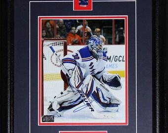 Henrik Lundqvist New York Rangers signed 8x10 frame