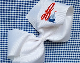Grand Sailboat Bow// Fourth of July// Summer Bow