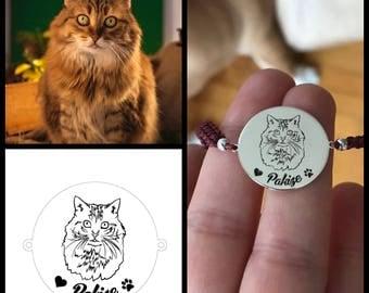 Custom DOG-CAT NAME Bracelet • Custom Dog • Custom Cat • Name Bracelet • Personalised Bracelet • Pet Memorial • Dog Gift