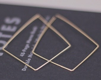 SALE Kite earrings Gold earrings Bridesmaid earrings Statement earrings Wedding jewelry Bridesmaid gift Boho bride Christmas gift for her