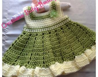 spring crochet dress pattern, baby girl crochet pattern , crochet pattern , baby clothes pattern ,baby dress pattern