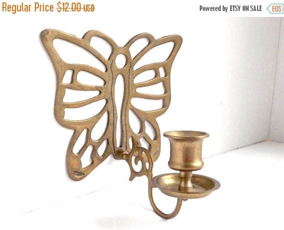 Wall Night Light Target : ON SALE Brass Wall Sconce Butterfly Wall by AgedwithGraceVintage