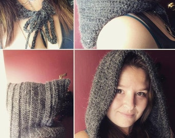 Large Crocheted Hood