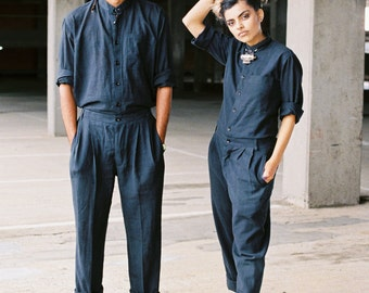 Genderless Jumpsuit (100%handwoven fabric, handmade)