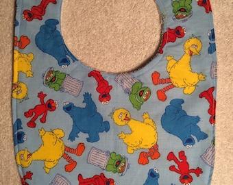 Sesame Street, Elmo, Big Bird, Oscar the Grouch and Cookie Monster Bibs!!
