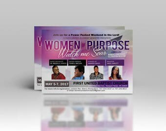 Church Conference Flyer, Women's Conference Flyer, Church Event Flyer, Women's Conference Promotion, 2-Sided Flyer