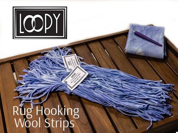 Rug Hooking Wool Strips Blue (Cirrus), Hand Dyed Wool For Rug Hooking, 100%  Wool (50 Strips) From LoopyWoolSupply On Etsy Studio