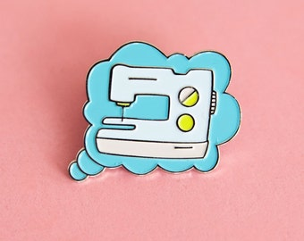 Thinking of Sewing- Pin- Sewing Pin- Sewing Accessory- Pin- Sewing Machine Pin- Jacket Pin- Colette Patterns