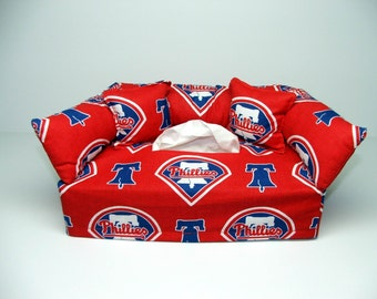 Philadelphia Phillies MLB Licensed fabric tissue box cover.