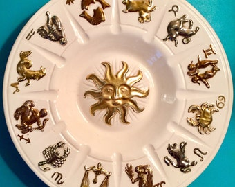 Vintage Zodiac Astrology Sun Tray