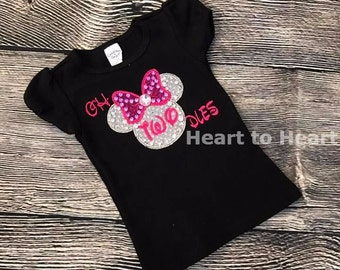 Minnie mouse birthday shirt, oh toodles, Minnie mouse girls birthday outfit, Birthday girl, Oh Twodles shirt, Toddler birthday outfit