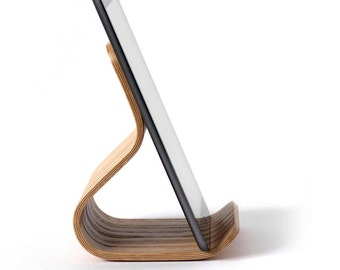 Tablet Stand Oak Bent Plywood | iPad Stand | iPad Holder | Tablet Holder | Kitchen iPad Stand | iPad Pro Stand | Wooden Tablet Stand