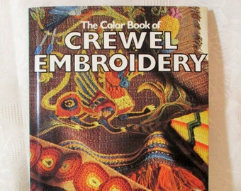 The Colorful Book of Crewel Embroidery, Jacobean Flower, Crewel Pattern Book, Needlepoint Patterns, Crewel Guide, Fay Anderson, Craft Book