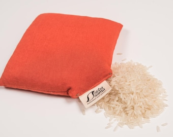 sobasama_rice wrist pillow_5x5_brust orange FREE SHIPPING