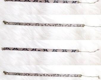 Snake skin choker necklace reversable choker