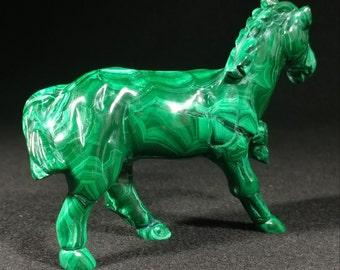 Malachite horse