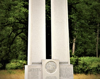 Indiana Monument / Gettysburg - Photograph