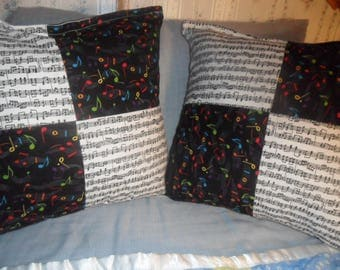 Music Pillows, Set of Two